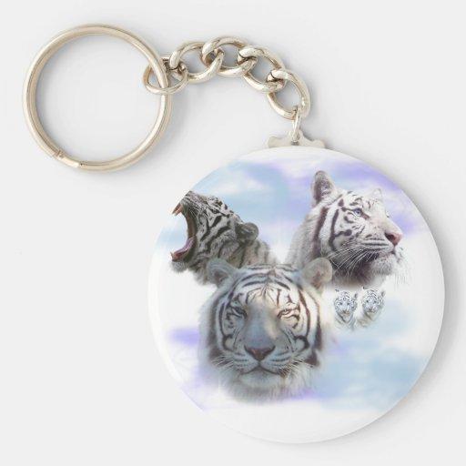 White Tigers Key Chain