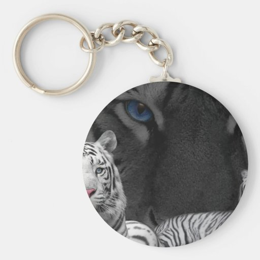 White Tigers Keychains