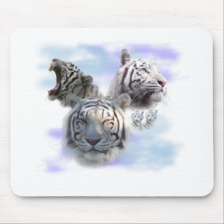 White Tigers Mouse Mat