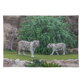 White tigers placemat