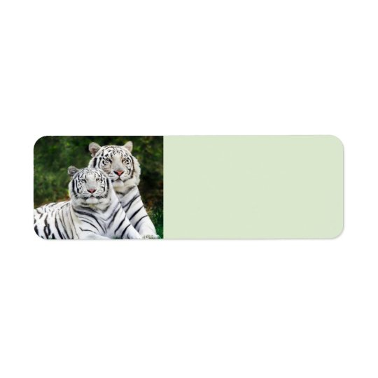 White Tigers Return Address Label