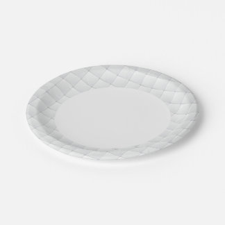 White tile 7 inch paper plate