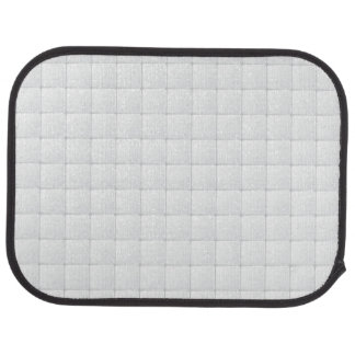 White tile car mat
