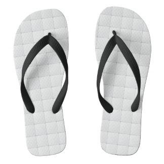 White tile flip flops