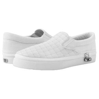 White tile slip on shoes