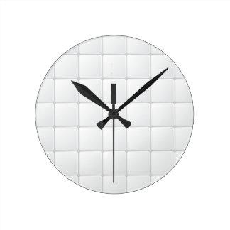White tile wall clock
