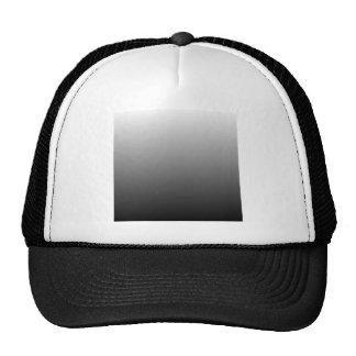 White to Black Horizontal Gradient Mesh Hats