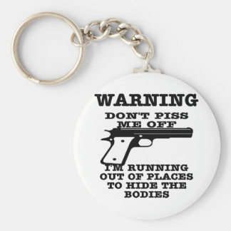 White To Hide The Bodies Key Ring