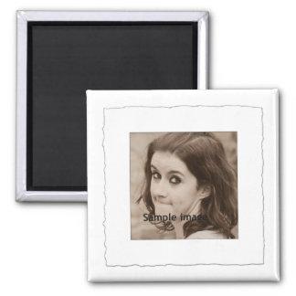 White Torn Frame Instagram Photo Make Your Own Magnet