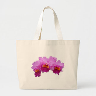 White Tote Bag decorated with Orchids