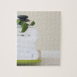 White towels and spa stones jigsaw puzzle