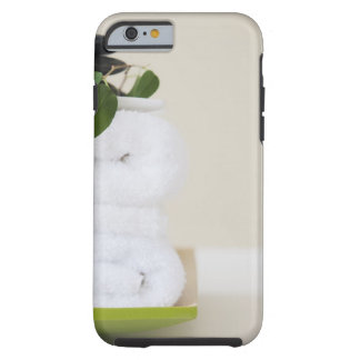White towels and spa stones tough iPhone 6 case