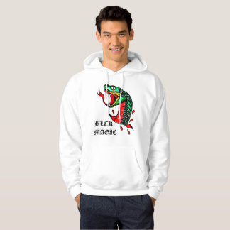 White Traditional Snake Hoodie