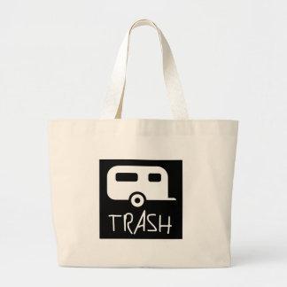 White Trailer Park Trash Poor Dumb Redneck Canvas Bags