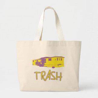 White Trailer Park Trash Poor Dumb Redneck Large Tote Bag
