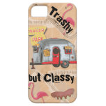 White Trailer Trash Cell Phone Case Cover Barely There iPhone 5 Case
