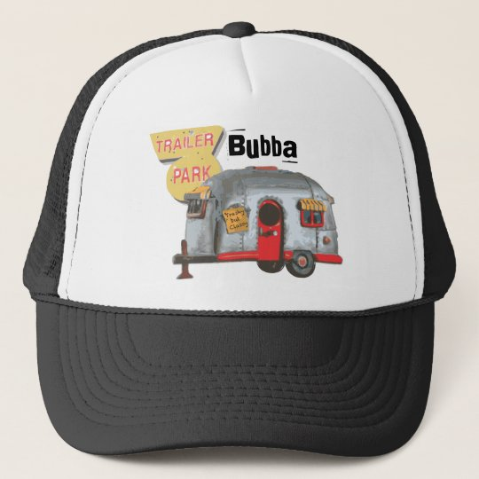 White Trailer Trash Trucker Hat