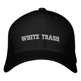 White Trash Cap Embroidered Hats