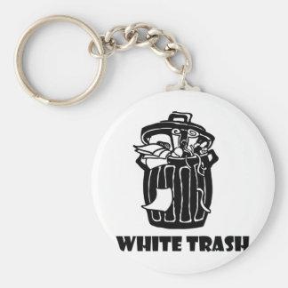 White Trash Garbage Can Key Ring