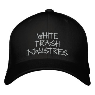 White Trash Industries Signature Logo Hat Embroidered Baseball Caps