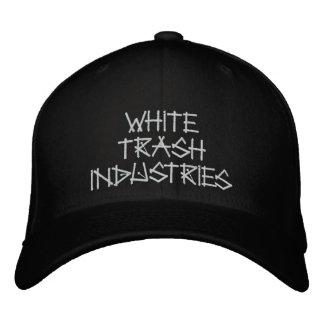 White Trash Industries Signature Logo Hat Embroidered Baseball Caps