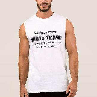 WHITE TRASH SLEEVELESS T-SHIRT