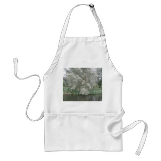 White Tree and River Landscape Apron