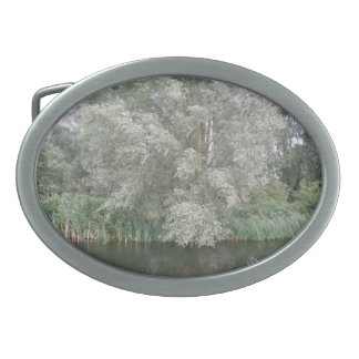White Tree and River Landscape Belt Buckle