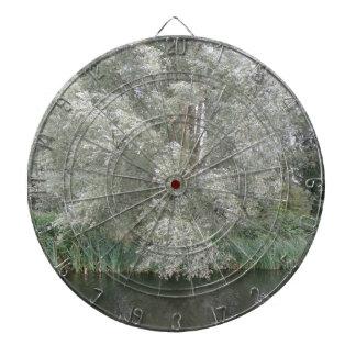 White Tree and River Landscape Dart Board