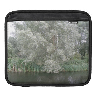 White Tree and River Landscape IPad Sleeve