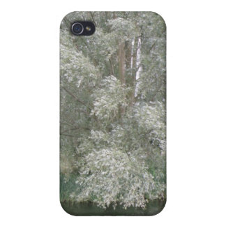 White Tree and River Landscape  iPhone 4/4S Case