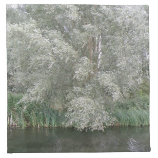 White Tree and River Landscape Napkin