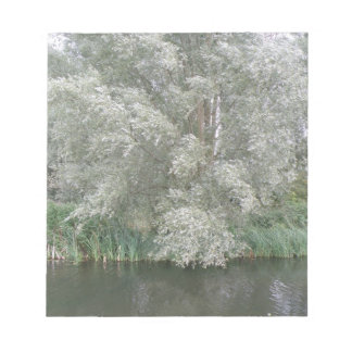 White Tree and River Landscape Notepad