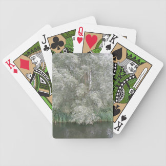White Tree and River Landscape Playing Cards
