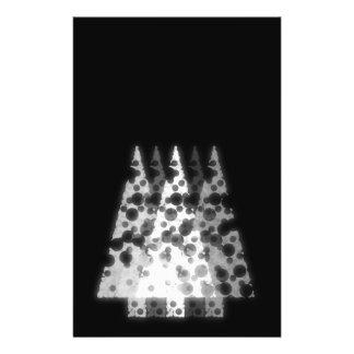 White Trees. Black Background. Christmas. 14 Cm X 21.5 Cm Flyer