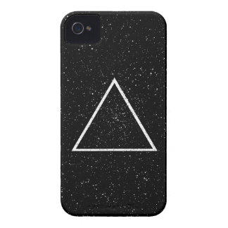 White triangle outline on black star background iPhone 4 cover