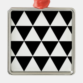 White Triangles Christmas Ornament