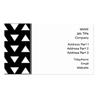 White Triangles on Black. A geometric Pattern. Business Card
