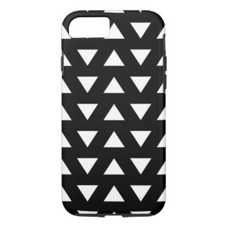 White Triangles on Black. A geometric Pattern. iPhone 8/7 Case