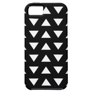 White Triangles on Black. A geometric Pattern. Tough iPhone 5 Case