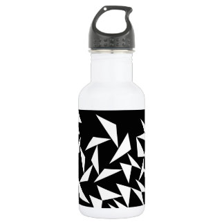 White Triangles Water Bottle