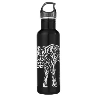 White Tribal Elephant 710 Ml Water Bottle