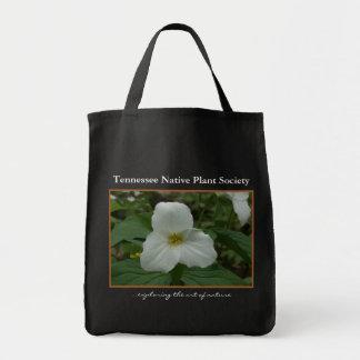 White Trillium Grocery Tote