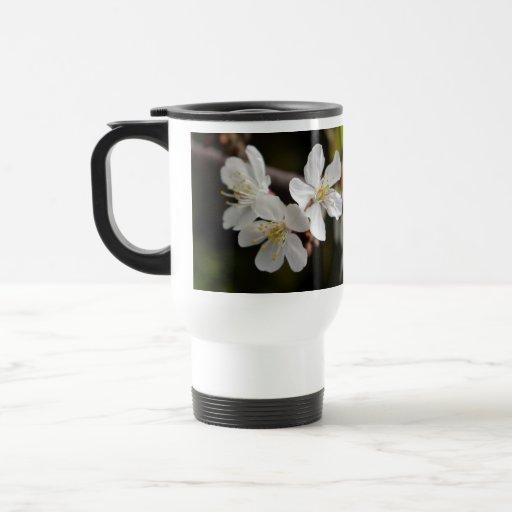 White Trio of Blossoms Coffee Mug