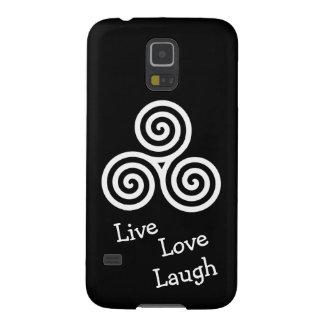 white triple spiral live love laugh galaxy s5 cover