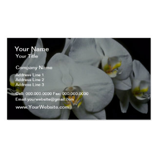 White Tropical Flower flowers Pack Of Standard Business Cards