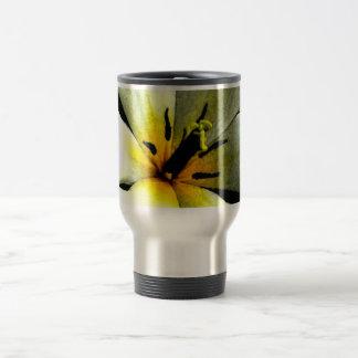 White Tropical Flower Stainless Travel Mug