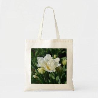 White Tulip Canvas Bags