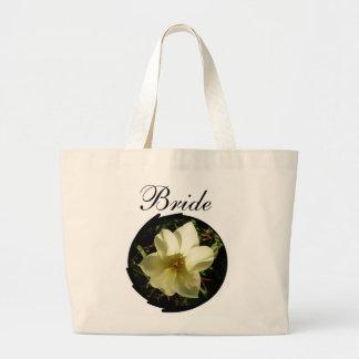 White Tulip Bride Jumbo Tote Bag
