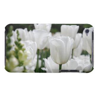 white tulip garden iPod touch case
